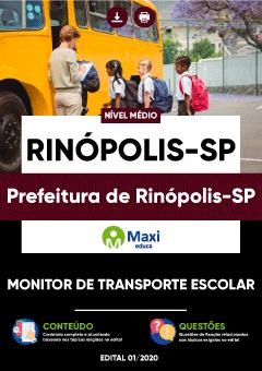 Concurso Prefeitura de Rinópolis SP 2020