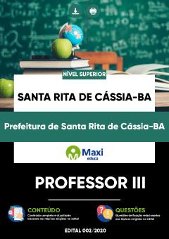 Concurso Prefeitura de Santa Rita de Cássia BA 2020