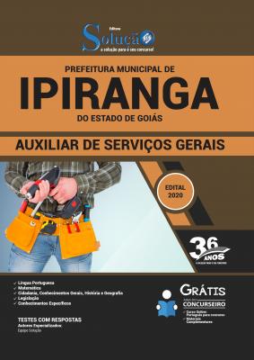 Concurso Prefeitura de Ipiranga GO 2020