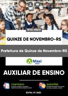 Concurso Prefeitura de Quinze de Novembro RS 2020