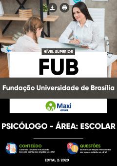 Concurso UNB FUB Universidade de Brasília 2020