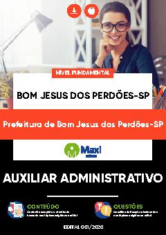 Concurso Prefeitura de Bom Jesus dos Perdões SP 2020