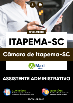 Concurso Câmara de Itapema SC 2020