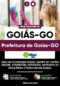 Concurso Prefeitura de Goiás GO 2020