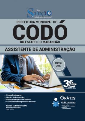 Concurso Prefeitura de Codó MA 2020