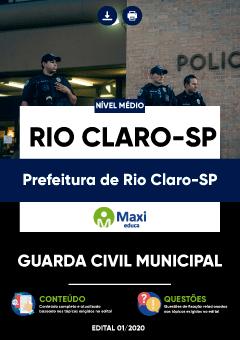 Concurso Prefeitura de Rio Claro SP 2020