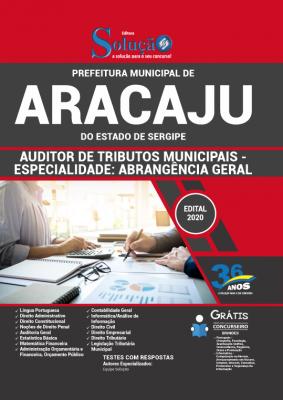 Concurso Prefeitura de Aracaju SE 2020 Auditor