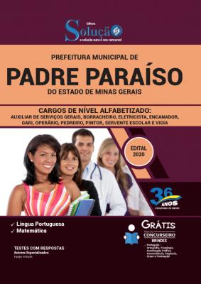 Concurso Prefeitura de Padre Paraíso MG 2020