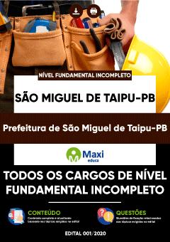 Concurso Prefeitura de São Miguel de Taipu PB 2020