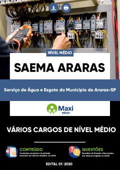 Concurso SAEMA Araras SP 2020