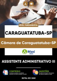Concurso Câmara de Caraguatatuba SP 2020