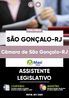 Concurso Câmara de São Gonçalo RJ 2021