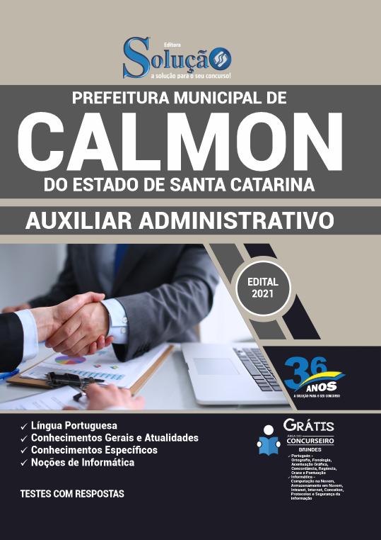 Concurso Prefeitura de Calmon SC 2021