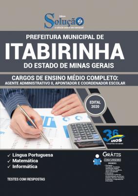 Concurso prefeitura de Itabirinha MG 2021